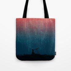 Meteor rain Tote Bag