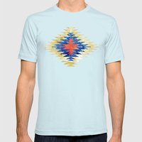 Painted Navajo Suns Mens Fitted Tee Light Blue SMALL
