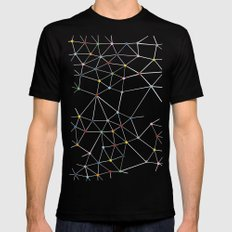 Seg with Color Spots Mens Fitted Tee Black SMALL