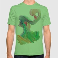 wave Mens Fitted Tee Grass SMALL