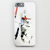 iPhone & iPod Case featuring Drawing Droids by Fabian Gonzalez
