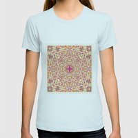 Poem Womens Fitted Tee Light Blue SMALL