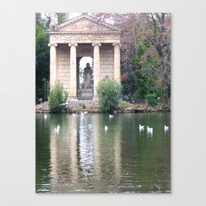 Reflection at Villa Borghese. Canvas Print