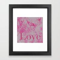 Love Me! Framed Art Print