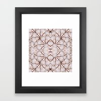 Butterfly seduction Framed Art Print