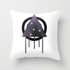 Dripping Space Throw Pillow
