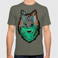 Wolf Mother - Screen Print Edition  Mens Fitted Tee Lieutenant SMALL