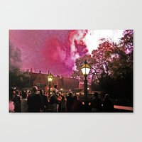 Firework Haze Canvas Print