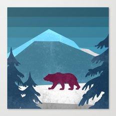Bear Pride Walk Canvas Print
