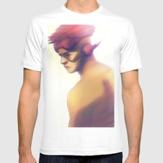 kidflash SMALL White Mens Fitted Tee