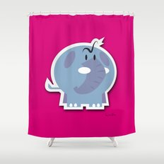 Angry Elefant Shower Curtain