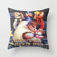 GAME'S NOT FUCKIN OVER! pt. 1 Throw Pillow