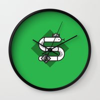 Slytherin House Crest Wall Clock