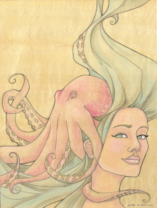 The Octopus Mermaid 7 Canvas Print