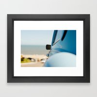 The Blue Car Framed Art Print