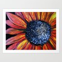 Blazing Color Flower IMPASTO Art Print