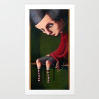 Girl in the Box Art Print
