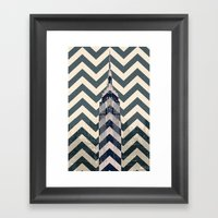 Chevron Empire Framed Art Print