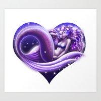 I Heart Mermaids- ver. 1 Art Print