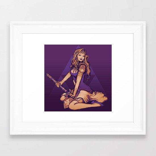 It's Dangerous to Go Alone! Framed Art Print