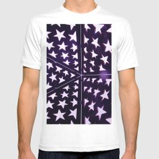 Star Gazing White Mens Fitted Tee SMALL