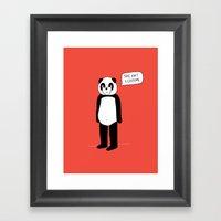 It's All ME. Framed Art Print