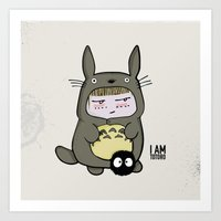 I am Totoro Art Print