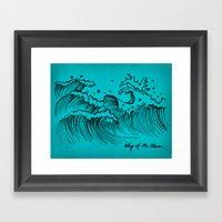 WAY OF THE OCEAN - Waves… Framed Art Print