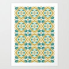 Italian Classic Motif 1 Seamless Pattern Art Print