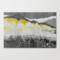 Mountains Shades Of Gray Canvas Print