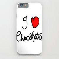 i love chocolate iPhone 6 Slim Case