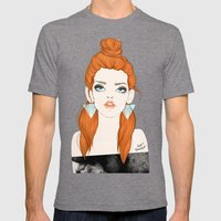 Red-haired girl Mens Fitted Tee Tri-Grey SMALL