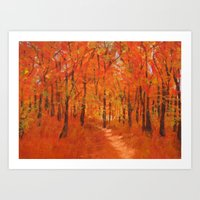 Alive In Autumn Art Print