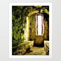 Castle Window Art Print