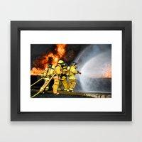Firefighters Framed Art Print