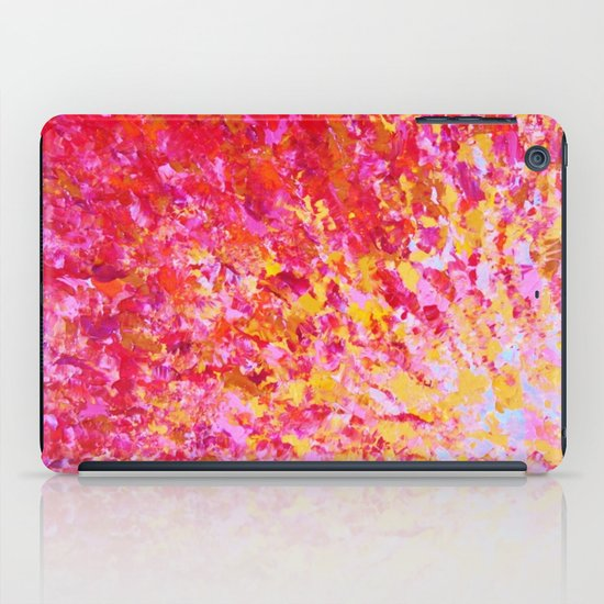 ROMANTIC DAYS - Lovely Sweet Romance, Valentine's Day Sweetheart Pink Red Abstract Acrylic Painting iPad Case