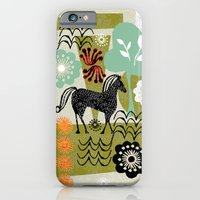 iPhone & iPod Case featuring magical horse garden by ottomanbrim