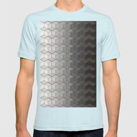 Pattern #6 Greyscale Mens Fitted Tee Light Blue SMALL