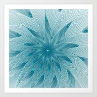 Blue Fantasy Star, Abstr… Art Print