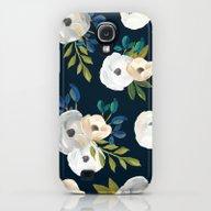 Midnight Florals - Blue … Galaxy S4 Slim Case