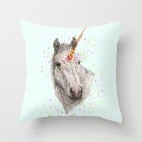 Unicorn V Throw Pillow