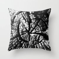 Texture Tree Rings Tree … Throw Pillow