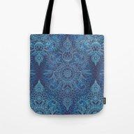 Aqua, Cobalt Blue & Purp… Tote Bag