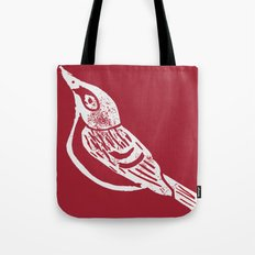 Black Capped Vireo - Hand Carved Stamp Tote Bag