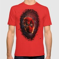 Dead Pool Mens Fitted Tee Red SMALL