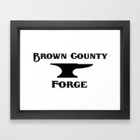 Brown County Forge Simple Logo Framed Art Print
