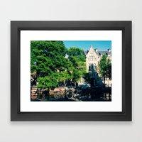 explore the city  Framed Art Print