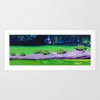Turtle Walk Art Print