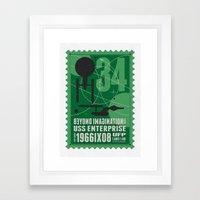 Beyond imagination: USS Enterprise postage stamp  Framed Art Print