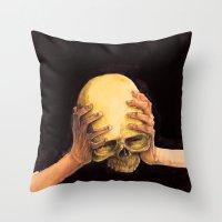 Head on Hands Throw Pillow